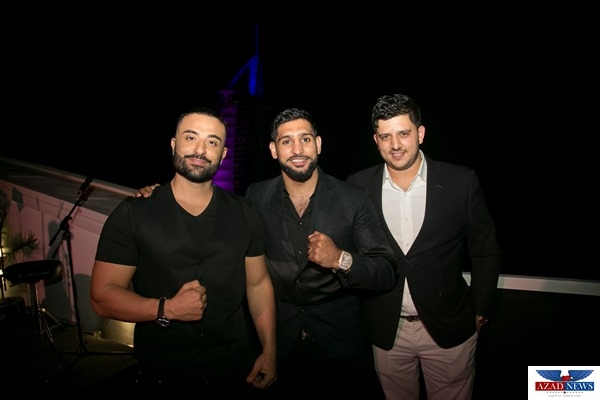 Boxer Amir Khan celebrates ambassador deal in star studded evening at Jumeirah Beach Hotel