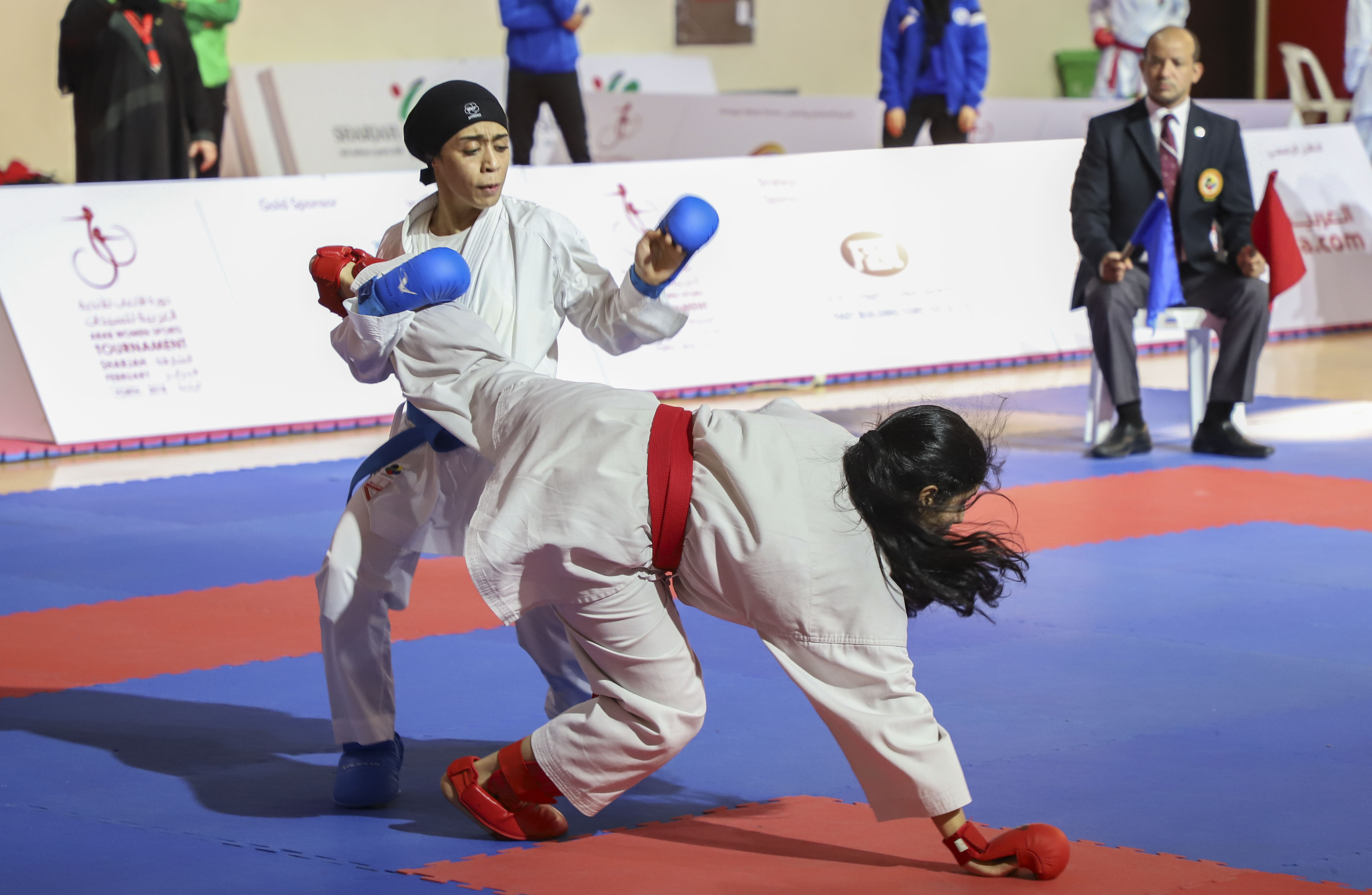 Karate team of Sharjah Women Sports Club Claim 6 Gold Medals and 1