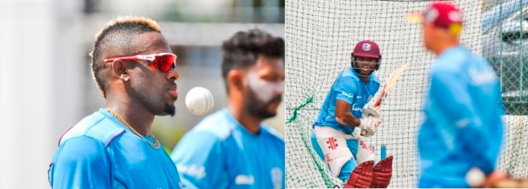West Indies training session ahead of Colonial Medical Insurance ODI Series