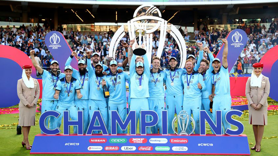 STOKES AND ARCHER STAR IN SUPER OVER AS ENGLAND LIFT THE ICC MEN'S CRICKET WORLD CUP FOR THE FIRST TIME