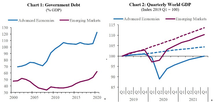 COVID-19 will lead to a sharp rise in the level of government debt